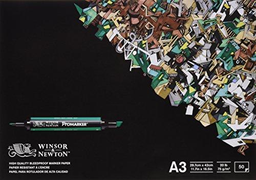 Winsor & Newton Blocco Carta Bleedproof A3 70G 50 Fogli