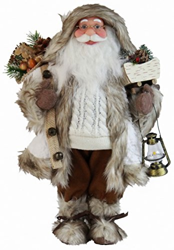 Windy Hill Collection 167200 White Woodland Santa Claus Figurine Figure Decoration 16""