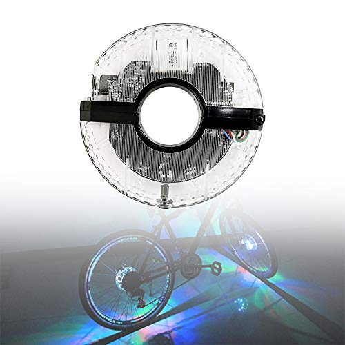 Outinhao 18 Modos, Luces de Rueda de Bicicleta Resistente al Agua, 7 Colores Luces de llanta de Bicicleta, Impermeable USB Recargable, LED Luz de Cubo de Rueda (7 Color)