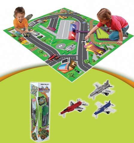 Alfombra Juegos Señales Tráfico Niños. Alfombra acolchada de juegos educativa, ideal para niños viajes/interiores y exteriores, de forma segura. Regalos para Bebés y recién nacidos