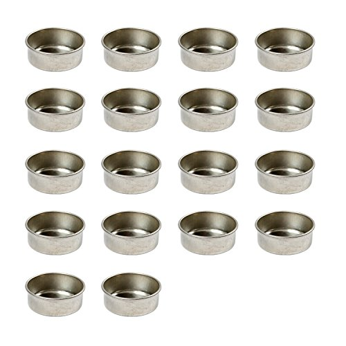 Teelichteinsätze aus Metall, 18 Stück