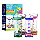 Special Supplies Liquid Motion Bubbler Toy (4-Pack) Colorful Hourglass Timer with Droplet Movement, Bedroom, Kitchen, Bathroom Sensory Play, Cool Home or Desk Decor