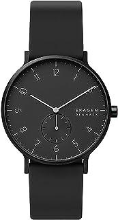 Skagen Aaren Men's Black Dial Silicone Analog Watch - SKW6544