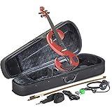 Stagg EVN 4/4 MRD Silent Violinenset 4/4, Metallic Rot