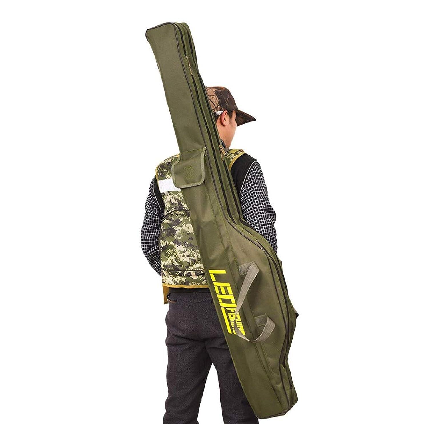 入射学校の先生ドルLacyie 釣竿ケース ロッドケース折畳 持ち運び便利 オックスフォード 釣りロッド 手提げ 肩掛け 大容量 竿袋 釣り竿入れ 収納 釣り具入れ