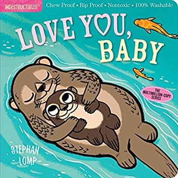 Indestructibles  Love You Baby  Chew Proof · Rip Proof · Nontoxic · 100% Washable  Book for Babies Newborn Books Safe to Chew