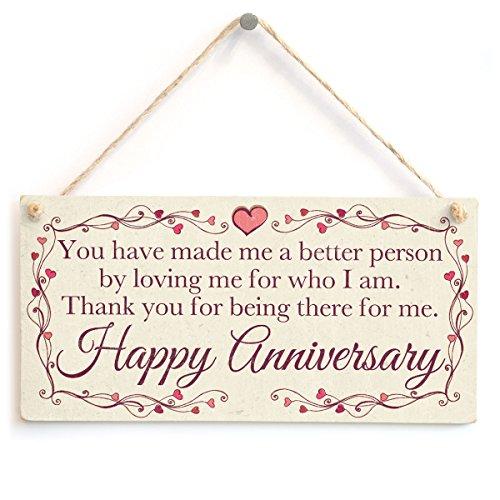 Gracias por Estar Ahí para mí. Feliz aniversario–especial aniversario regalo para marido, esposa, Partner, novio o novia
