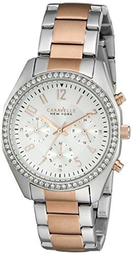 Caravelle New York Women's Quartz Stainless Steel Dress Watch (Model: 45L148)