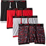 Hanes Men's 4-Pack Active Cool X-Temp Short Leg Boxer Brief, Assorted, Large
