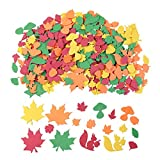 500PCS Thanksgiving Decorations Leaf Foam Stickers, Thanksgiving Decor Fall Maple Squirrels Acorns for Scrapbooking, Class, Placement