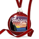 NEONBLOND Christmas Decoration Lake Retro Design Hebgen Lake Ornament