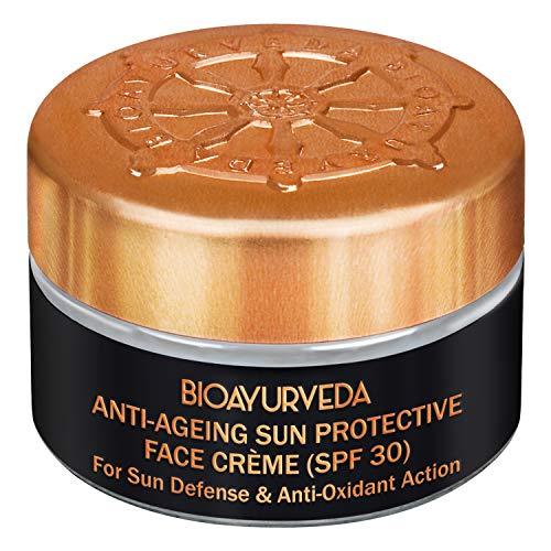 BIOAYURVEDA Sun Protective Face Cream  Sunscreen Natural Face Moisturizer - Spf 30, Broad Spectrum, UV Rays Defense Fights Fine Lines, Tan, Sunburn, Dullness, Redness, Dark Spots(2 Oz)