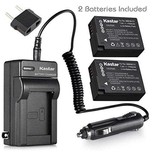 Kastar Battery (2-Pack) and Charger Kit for Panasonic DMW-BLC12, DMW-BLC12E, DMW-BLC12PP and DE-A79 Work with Panasonic Lumix DMC-FZ200, DMC-FZ1000, DMC-G5, DMC-G6, DMC-GH2 Cameras -  CH-2B-BLC12