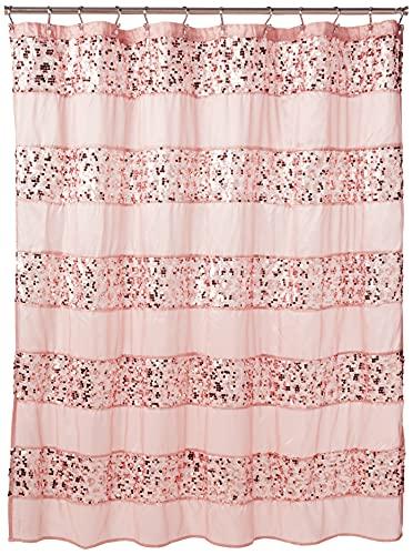 Popular Bath 885545 Sinatra Collection, Shower Curtain, Blush