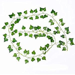 HKVML 10 Pcs 200CM/lot Silk Roses Fake Creeper Green Leaf Ivy Vine for Home Wedding Decora Wholesale DIY Hanging Garland Artificial Flowers