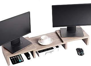 Superjare Monitor Stand Riser, Adjustable Screen Stand for Laptop Computer/TV/PC, Multifunctional Desktop Organizer - Crea...