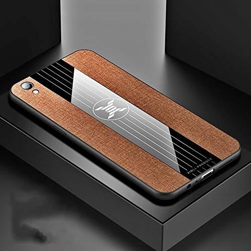 Stoßfeste TPU Tasche für Smartphone Ror Oppo R9 Plus-Stitching-Tuch textue Stoß- TPU-Schutzhülle (schwarz) (Farbe : Brown)
