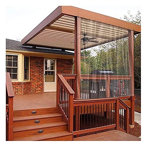 FENGSR Hochleistungsplane Klarer PVC-Weichglas-Regenvorhang,Mit Ösen Regenfest Und Feuchtigkeitsbeständig,Für Den Garten Markise,Antialterung (Color : Klar, Size : 5X8M)