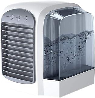 Personlig rymdluftkylare, 3-i-1 bärbar mini-luftkonditionering, luftfuktare och renare 2-stegs snabbkylning hemdisk sovrum...