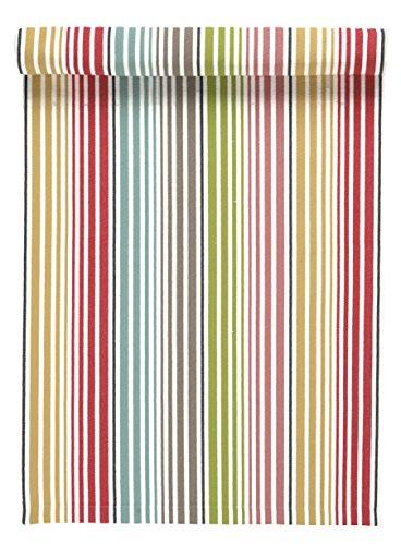 Linum Tischläufer bunt gestreift 45x150 cm aus Baumwolle (Harmony)