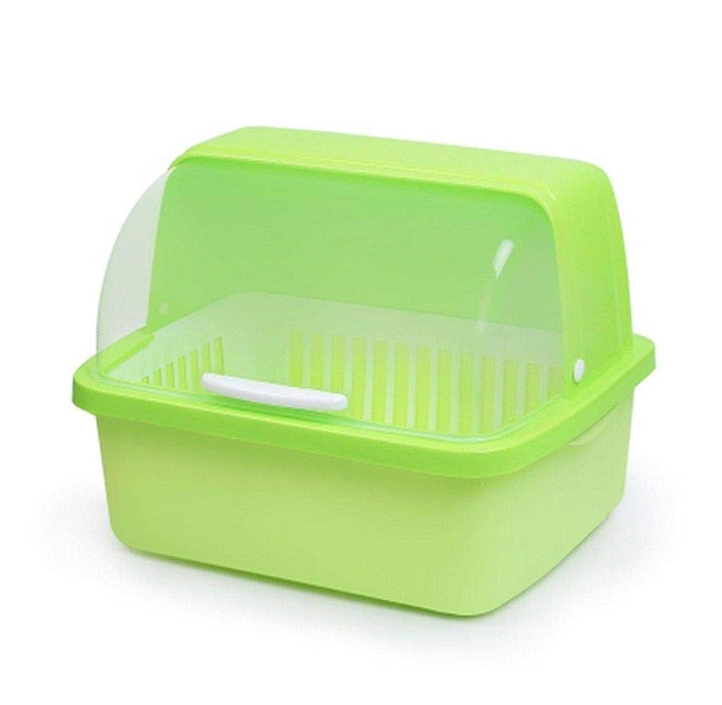 報復する保育園不平を言うドリップトレイ、食器収納ボックス付きキッチンクラフトディッシュドレンコンテナー、キッチンドレンの安全性(色:青、サイズ:小)