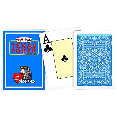 Modiano Poker Playing Cards Texas Poker for Casino, Party Games (Dark Blue)