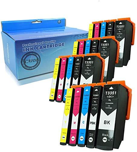 Teland - Cartuchos de tinta para Epson XP-530 XP-630 XP-635 XP-830 Xp-640 Xp-900 Xp-540 Xp-645