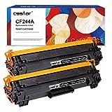 CSSTAR Compatible Cartuchos de Tóner Reemplazo para HP 44A CF244A (con Chip) para LaserJet Pro M15A M15W M28A M28W M16A M16W MFP M29A M29W Impresora, Paquete de 2 Negro