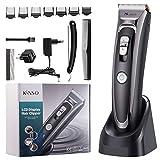 Tagliacapelli Professionale, KINSO Kit Professionale per taglio capelli senza cavo per uomo e...