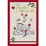 Me to You Tatty Teddy tarjeta de Navidad–hermano y cuñada