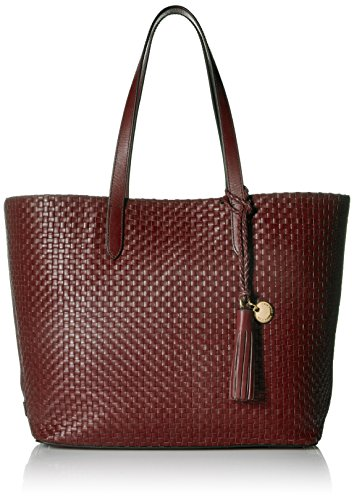Cole Haan Payson Woven Leather Tote Bag, fired brick