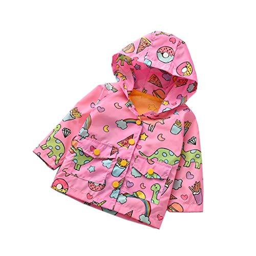 Subfamily Camisa de Bebe Estampado de Dinosaurio de Dibujos Animados en Ropa de niños. Chaqueta Cortaviento Estampada de niño y niña de 3 a 10 años.