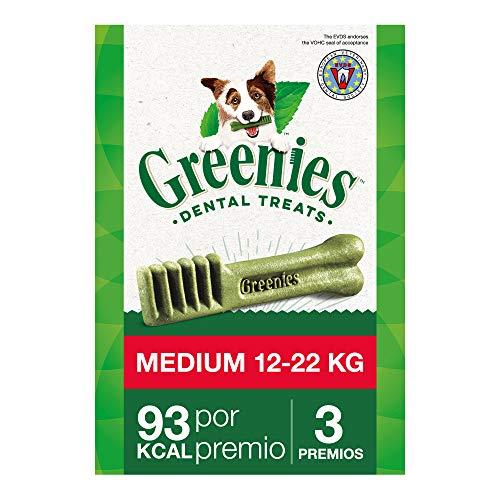 Greenies Snack Dental 100% Natural para perros Medianos (Pack de 6 x 85g)