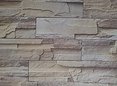Just Peel and Stick Faux Brick Stone Wallpaper Contact Paper Waterproof Removable Wall Decor Sticker,24Inch by 393.7Inch