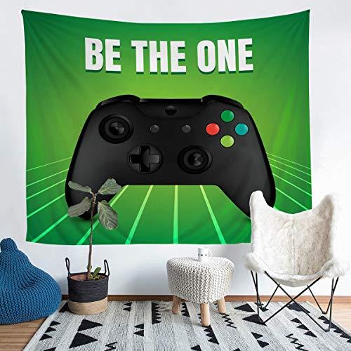 Gamer Tapestries - Tapiz para colgar en la pared, diseño de videojuegos, juego de videojuegos, manta de acción colorida para colgar en la pared, diseño de botones de acción