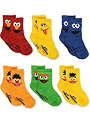 GREAT VALUE - These toddler and baby girl's and boy's Yankee Toy Box exclusive Sesame Street sock sets are a great value. These quarter-style sock sets feature bright colors and different characters. They contain ribbed-knit cuffs, reinforced heels a...