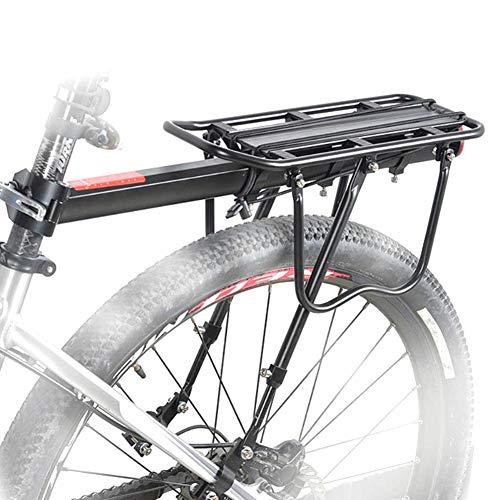 Newin Star Alforjas Estante de la Bici de montaña Djustable aleación de Aluminio del Estante del Pannier extraíble Porta Equipaje portacargas 50kg con Reflector de Bicicleta de montaña, Bicicleta de
