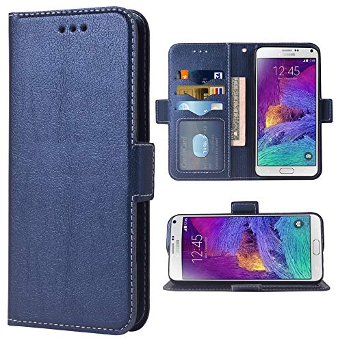 Phone Case for Samsung Galaxy Note 4 Folio Flip Wallet Case,PU Leather Credit Card Holder Slots Full Body Protection Kickstand Protective Phone Cover for Glaxay Note4 SM N910A N910F SM-N910F Boys Men