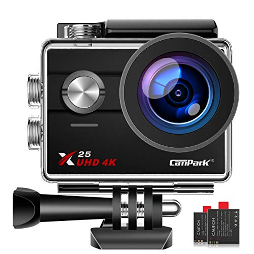 【Lowest Price】 Campark X25 Native 4K WiFi Sports Action Camera Ultra HD Waterproof DV Camcorder 16MP 170 Degree Wide Angle