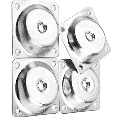 Leg Mounting Plate, Bevel Iron Plate Nut Strengthen Repair Furniture Connection Board 5Pcs