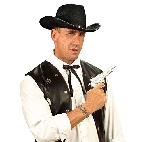 NET TOYS Cowboy Krawatte Western Fliege schwarz Wilder Westen Schleife Wild West Binder Sheriff Tie Fasching Kostüm Accessoires