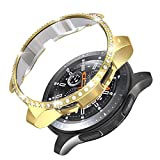 PC Diamond Case for Samsung Gear S3 Frontier SM-R760, Haojavo PC Plated Protective Bumper Shell Protector for Samsung Gear S3 Frontier/Classical & Galaxy Watch 46mm Smartwatch Bands Accessories