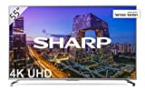 Sharp LC-55UI8762ES - Smart TV 55'' 4K Ultra HD (LED, 3 HDMI 2.0 admiten 2160p a 60Hz, puerto USB 3.0, HDR+, DVB-C, DVB-S, DVB-S2, DVB-T MPEG-2, DVB-T MPEG-4 (H.264), DVB-T2) color gris, Negro
