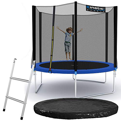 Kinetic Sports Outdoor Gartentrampolin Ø 275, TPLS09, inklusive Sprungtuch aus USA PP-Mesh +Sicherheitsnetz...
