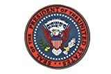PVC製 丸型 合衆国 国章 紋章 USA ワッペン パッチ ベルクロ付