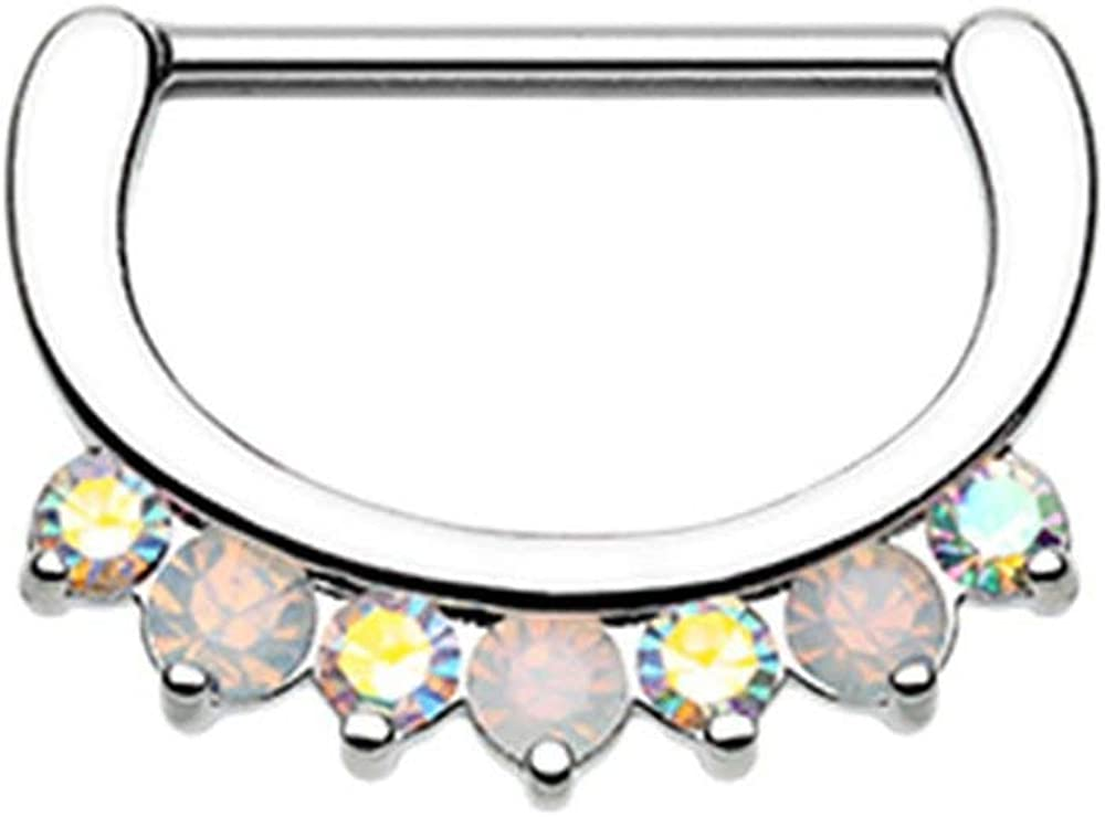 Covet Jewelry Classic Precious Gem Sparkle Nipple Clicker