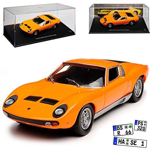Atlas Lamborgihini Miura P400 Coupe Orange 1966-1975 1/43 Modell Auto