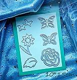 Cuchillo de flor de mariposa Plantilla de corte de troquel Cuchillo de papel Molde Cuenta de mano Diy Cuchillo de acero al carbono en relieve Troquel