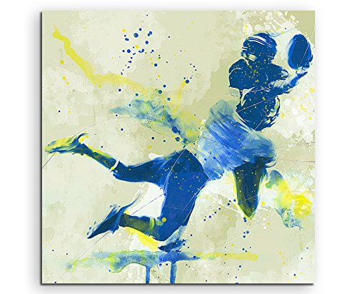 American Football I 60x60cm SPORTBILDER Paul Sinus Art Splash Art Wandbild Aquarell Art
