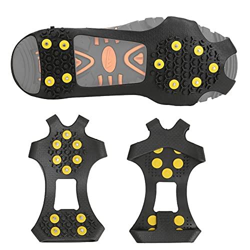 Rodipu Ett par zinklegering hållbara dragklossar, isstenar, halkskydd vandring för stövlar skor klättring (M storlek (36-40 skor))